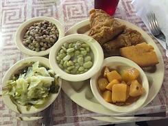 Binke's Meridien Mississippi Field Peas Butter Beans Fried Chicken